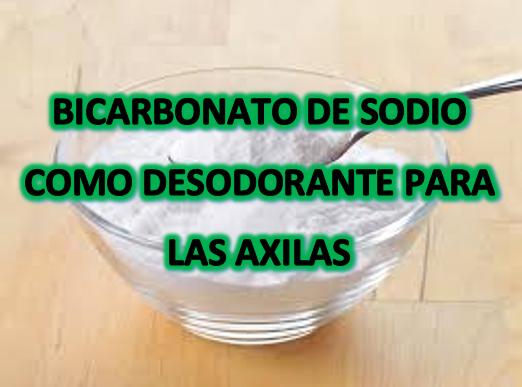 Bicarbonato de sodio como desodorante para las axilas