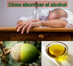 Hojas de encina para aborrecer el alcohol
