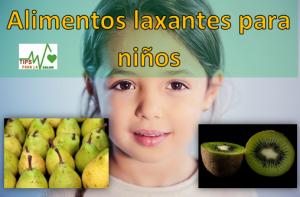 Alimentos laxantes para niños